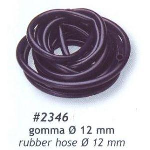Tuyau essence caoutchouc noir diamètre 12mm, longueur 5mètre