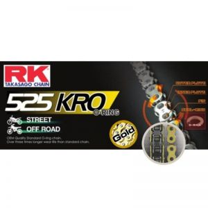 Chaine RK 525 O'Ring renforcée 122 maillons